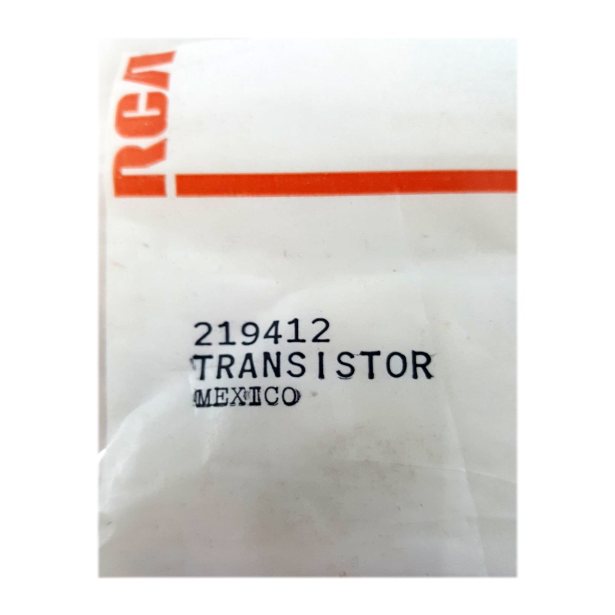 RCA VCR Replacement Transistor Part No. 219412