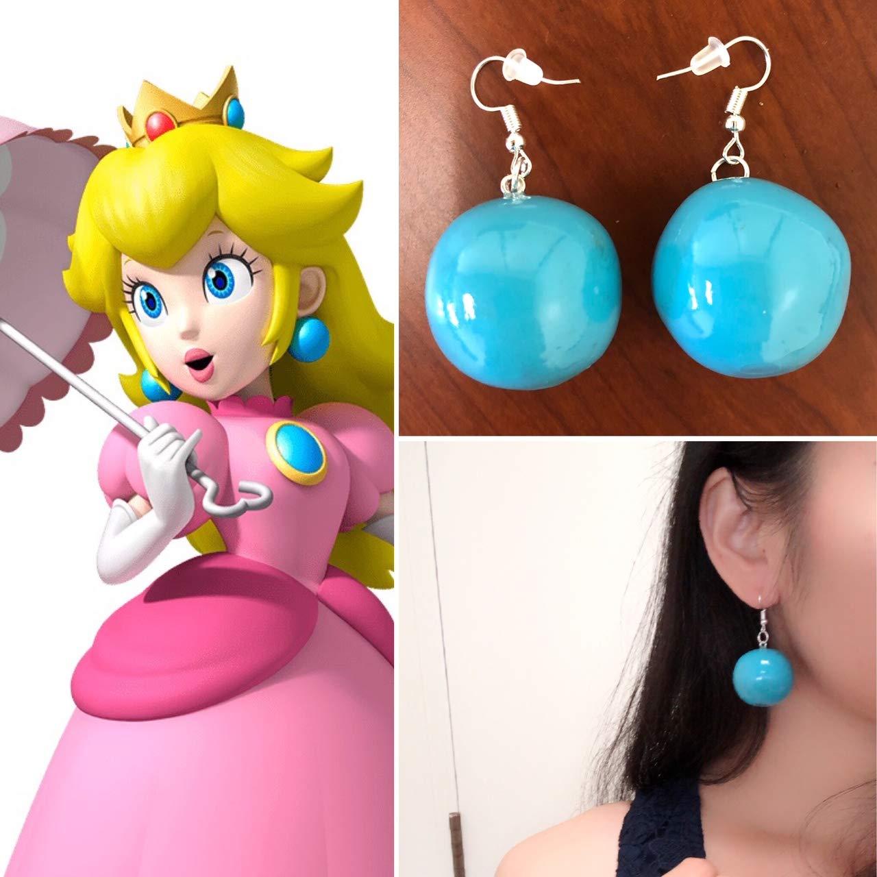 Peach Earrings, Peach Costume Accessories, Peach Earrings, Princess Peach Costume, Princess Peach Earrings