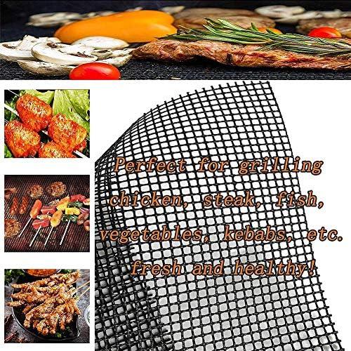 runnerequipment Tapis de Gril antiadhésif réutilisable Barbecue Grill Mesh résistant à la Chaleur pour Les Fours extérieurs Grill