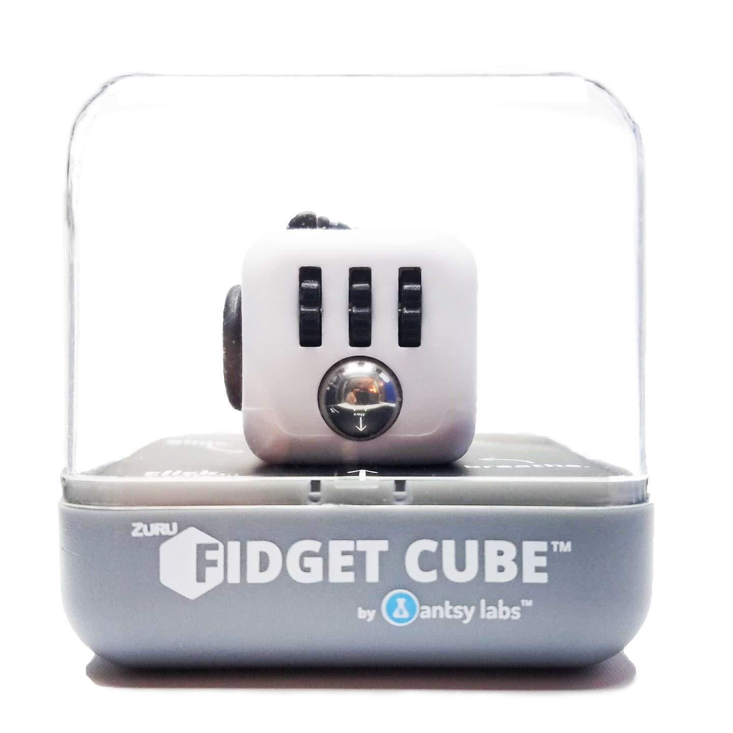 ZURU Fidget Cube by Antsy Labs White/Black - The Original and Still the Best Anti-Stress Toy, Fidget Toy Designed to Help you Focus by ZURU (Image #2)