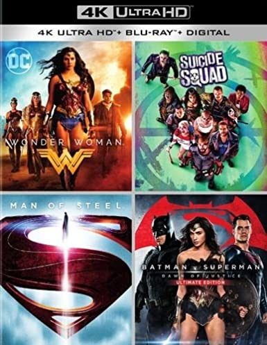 Exclusive DC 4K Collection: Wonder Woman, Suicide Squad, Man of Steel, Batman vs. Superman: Dawn of Justice 4K Ultra HD (4K Blu-ray+Blu-ray+Digital)