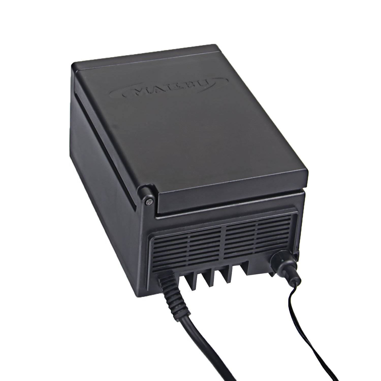 Malibu 120-Watt Transformer with Timer and Sunlight Sensor for Low Voltage Landscape Lighting 120V Input 12V Outdoor