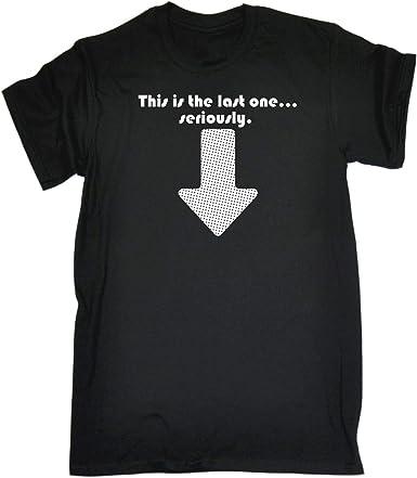 N/R This Is The Last One Baby Camiseta Negra de algodón para Hombre: Amazon.es: Ropa y accesorios