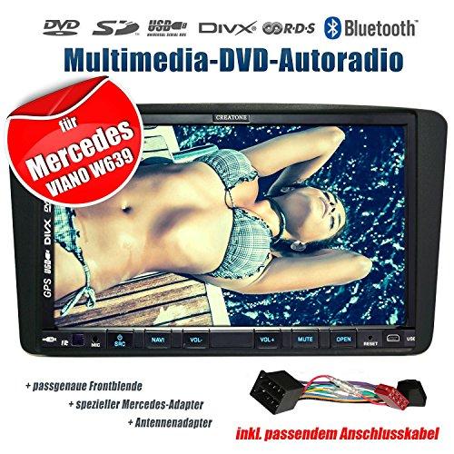 2DIN Autoradio CREATONE CTN-9268D56 für Mercedes Viano W639 (2004-2006) mit GPS Navigation, Bluetooth, Touchscreen, DVD-Player und USB/SD-Funktion