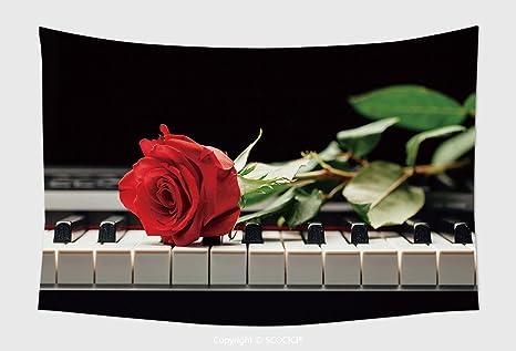 Home Decor arazzo da parete pianoforte e rosa rossa _ 50168945 per ...