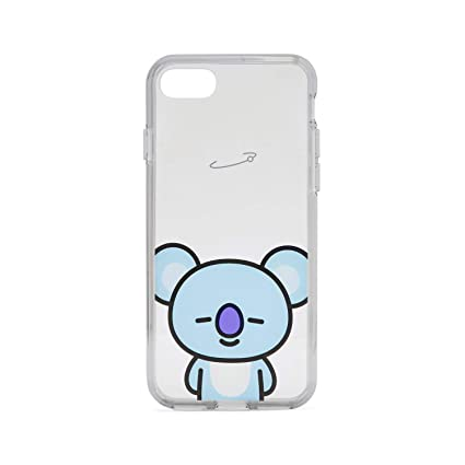Bt21 Official Merchandise By Line Friends   Koya Character Clear Case For I Phone 8 / I Phone 7, Sky Blue by Line Friends