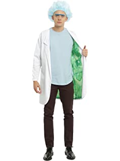 RICK AND MORTY Official Lab Coat Costume from Adult Swim - Size Large / XL