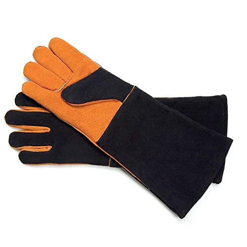 Steven Raichlen Best Of Barbecue Extra Long Suede Grill Gloves SR8038