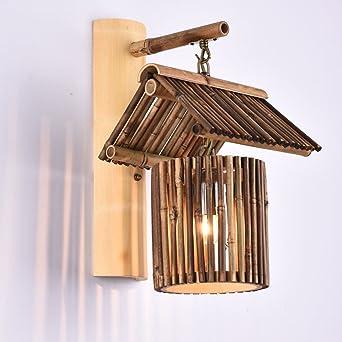 Chinesische antike Retro Laternen Bambus Farbe Wand Lampe ...