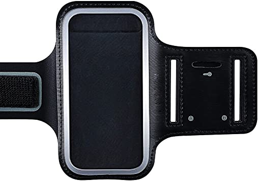 iPhone 7 cinta de correr, KINGCOO ajustable deporte correr brazalete funda soporte para iPhone 7 /iPhone 6 /6S senderismo entrenamiento y ejercicio neopreno con auriculares y ranuras clave: Amazon.es: Electrónica