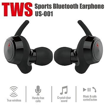 True Wireless - Auriculares estéreo Bluetooth Deportivos, IPX6, Impermeables, con cancelación de Ruido