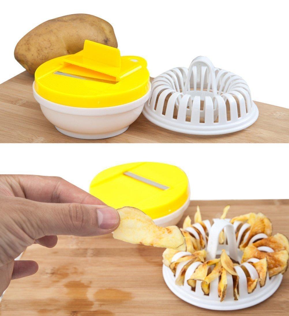 vinallo para casa DIY Baked patatas chips en microondas ...