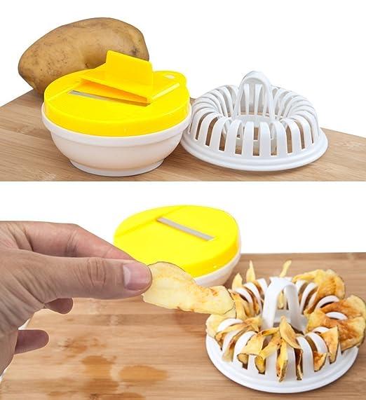 vinallo para casa DIY Baked patatas chips en microondas horno ...
