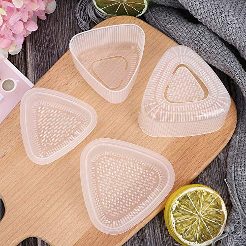 Sushi Tools - 4 Pcs Transparent Practical Sushi Onigiri Mold Food Cake Press Triangular M Maker Cooking - Make Tools ()