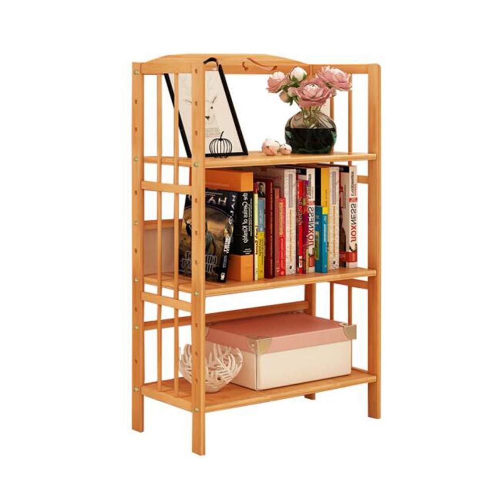 XUERUI オープンシェルフラック 竹本棚、収納ラック多層学生木製棚シンプル家具 多機能 (色 : 3 layers-Wood color, サイズ さいず : 50x25x96cm) B07S3KLZ9J 3 layers-Wood color 50x25x96cm