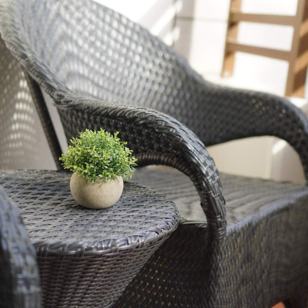Velener Mini Plastic Artificial Plants Benn Grass in Pot for Home Decor (Green) -