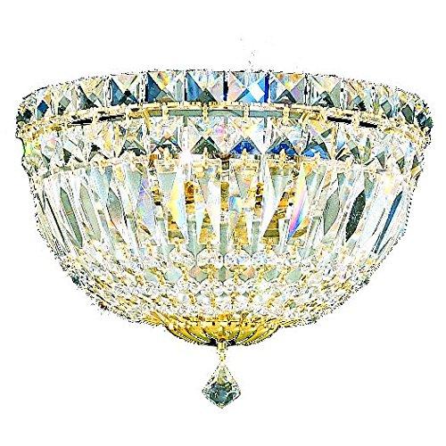 Schonbek 6600-40M Swarovski Lighting Petit Crystal Deluxe Wall Sconce, Silver