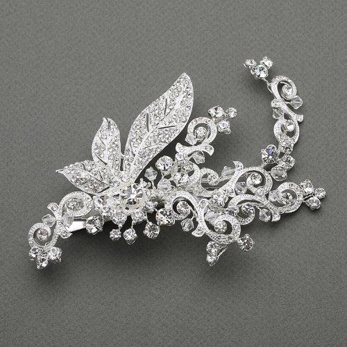 Art Nouveau Crystal Wedding Bridal, Special Occasion Clip by Fairytale Bridal Tiara