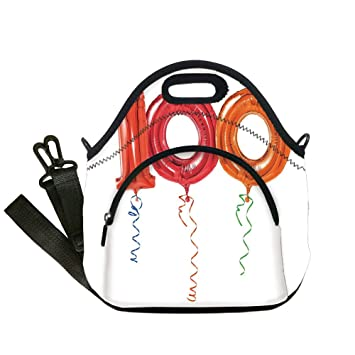 0fe5b5749eae Amazon.com: Insulated Lunch Bag, Neoprene Lunch Tote Bags, 100th ...