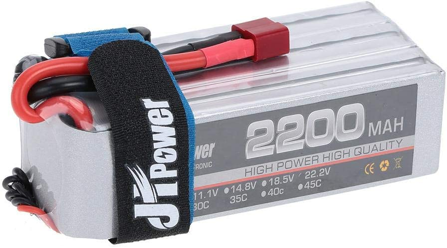 Exiron JHpower 2200mAh 35C LiPo Battery 22.2V 6S with T Plug for RC Car Airplane Helicopter