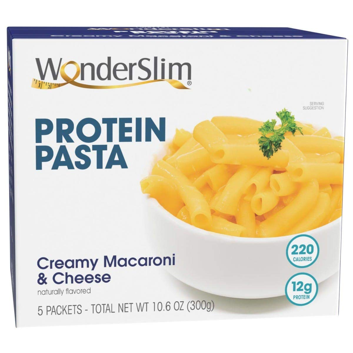WonderSlim High Protein Diet Macaroni & Cheese Pasta (5 Servings/Box) - Trans Fat Free