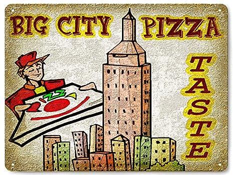 Amazon.com: Pizza Parlor metal Sign City restaurante comedor ...