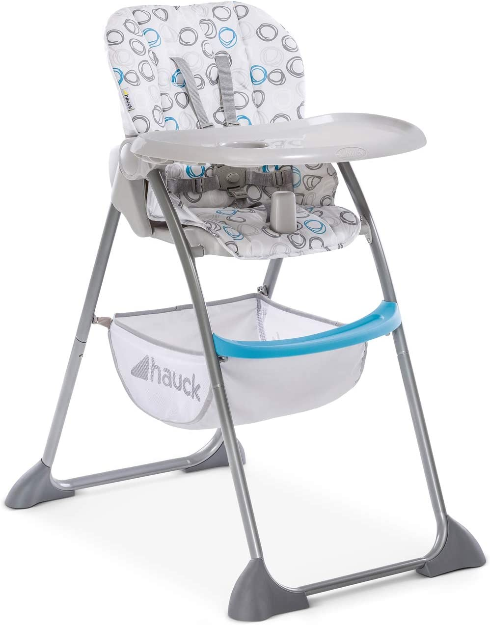 Hauck Sit'n Fold Adjustable Highchair From 6 Months, Removable Depth Adjustable Tray, Adjustable Backrest, Large Basket, Folding High Chair for