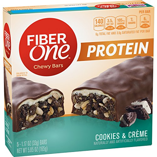 Fiber One Protein Chewy Bar Cookies and Crème 5-1.17 oz Bars from Fiber One