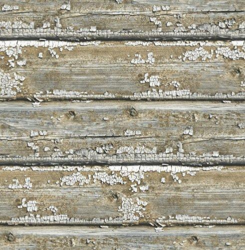NuWallpaper NU2674 Planks Peel & Stick Wallpaper, Neutral