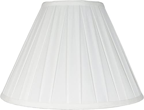 Urbanest Softback Empire Box Pleat Lampshade, Faux Silk, 8x16x11 , Off White, Spider