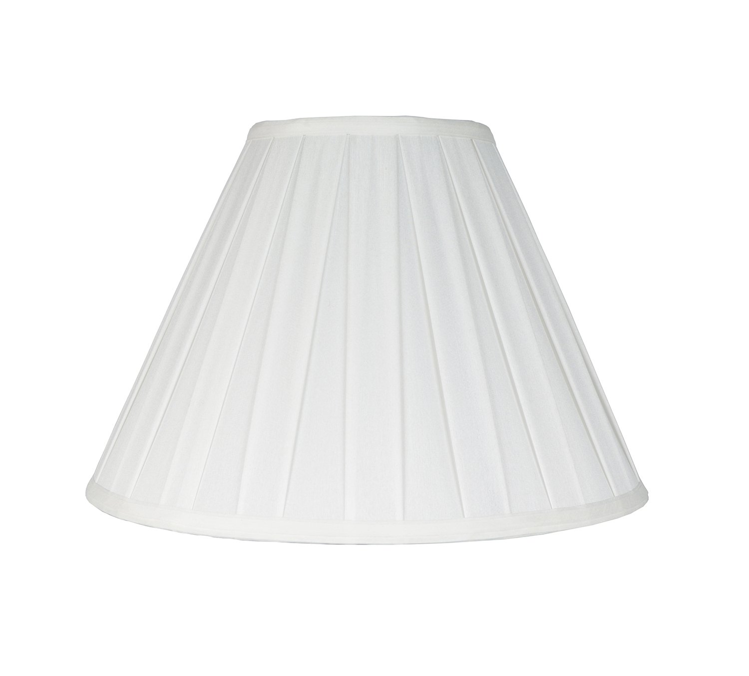Urbanest Softback Empire Box Pleat Lampshade, Faux Silk, 8x16x11'', Off White, Spider