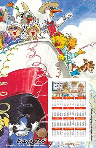 2017 Suzy's Zoo Calendar Refrigerator Magnet