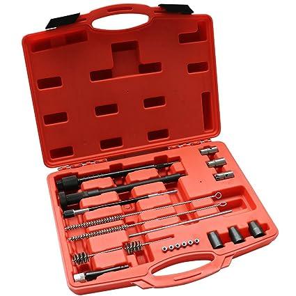 Kit de limpieza del asiento del inyector y del pozo de inspección Guía de cortadores de