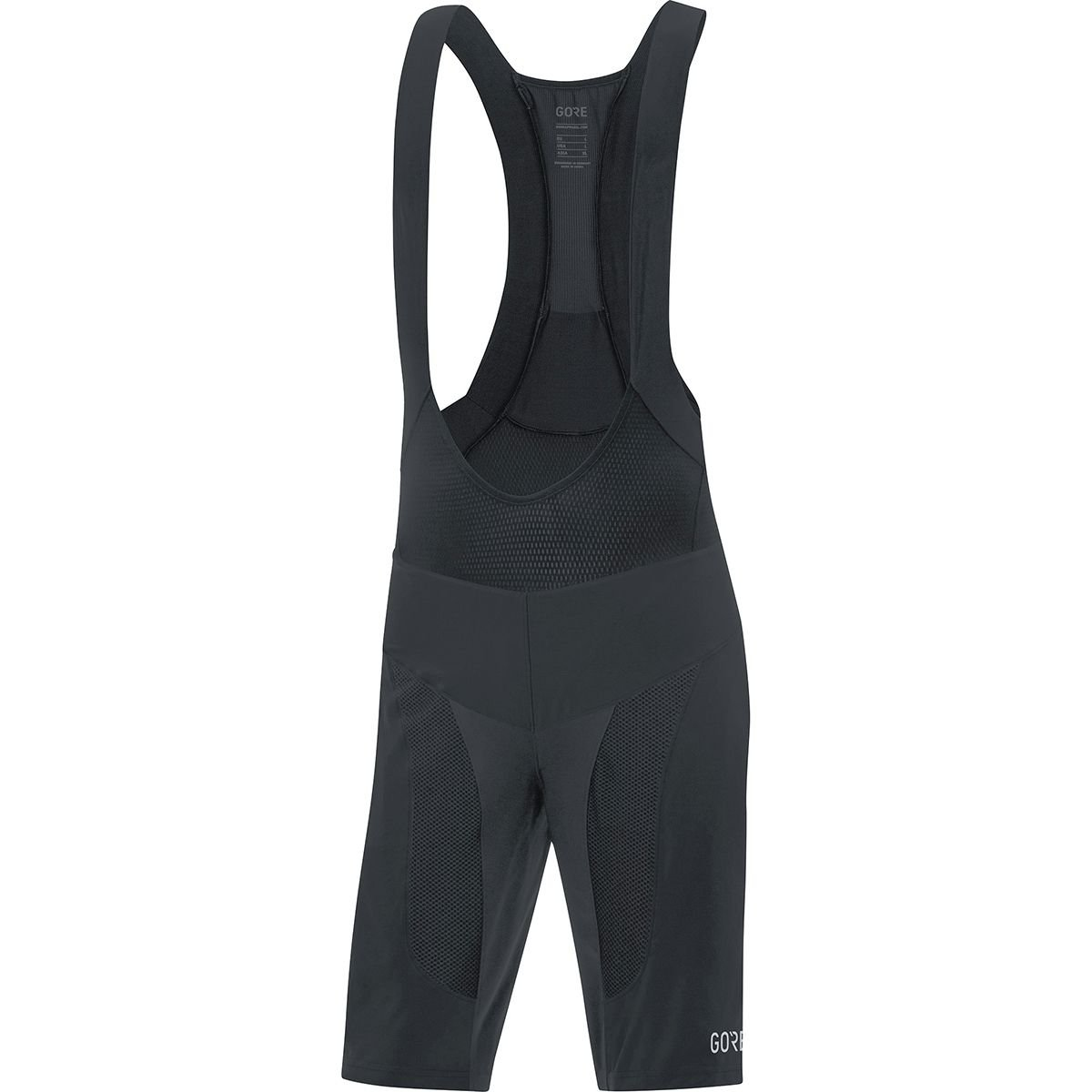 GORE Wear C7 2in1 Men's Mountain Cycling Bib Shorts With Seat Insert, S, Black