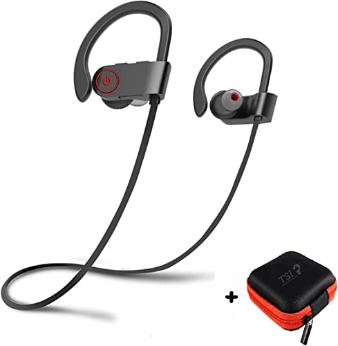 Bluetooth Earbuds Best Wireless Sports Headphones w Earphone Case Mic Stereo Sweatproof V4.1 EDR for Gym Running Workout iPhone X 8 8 7 7 6 6s plus Samsung Galaxy S8 S8 S9 Black Black Thread