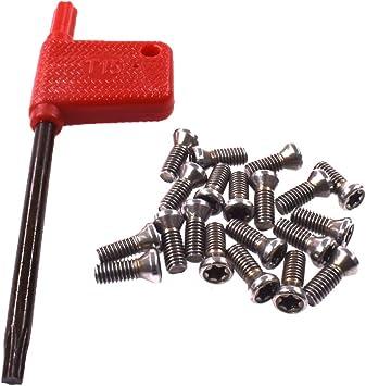 20pcs M3.5 x 10 mm M3.5 x 10 Insert Torx Screw for Carbide Inserts Lathe Tool