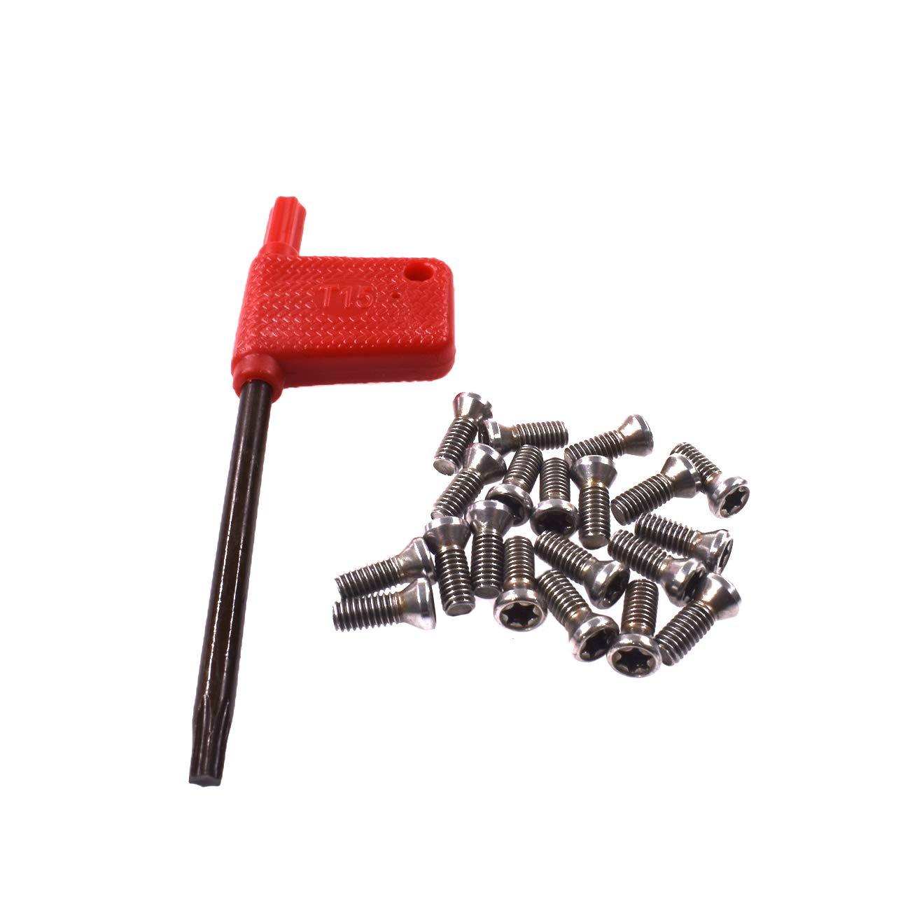 HGC 20pcs M3.5x10 Alloy Steel Torx Screws For Replaces Carbide Insert CNC Lathe Tool Dazhong Machinery