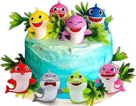 Amazon.com: Sakolla - 8 adornos para tarta de cumpleaños con ...