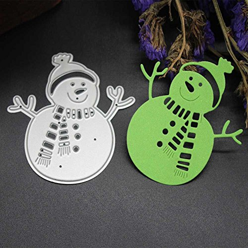 wintefei Christmas Halloween Card Making DIY Craft Metal Scrapbooking Embossing Stencil Cutting Dies #2snowman