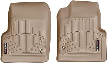 Tan WeatherTech Custom Fit Rear FloorLiner for Jeep Wrangler