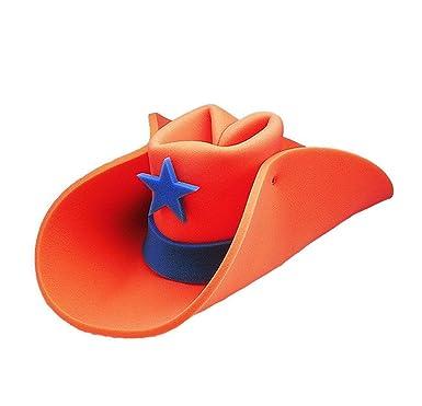 141554f356e Orange 30 Gallon Foam Cowboy Hat  Amazon.co.uk  Clothing