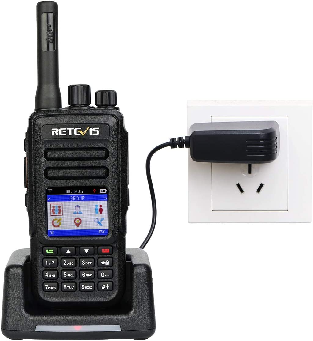 Retevis RT51 4G Network Walkie Talkie GPS 1500 Miles Nationwide Coverage 4000mAh Battery Rechargeable SIM Card Smart Walkie Talkie Wireless 2 Pack