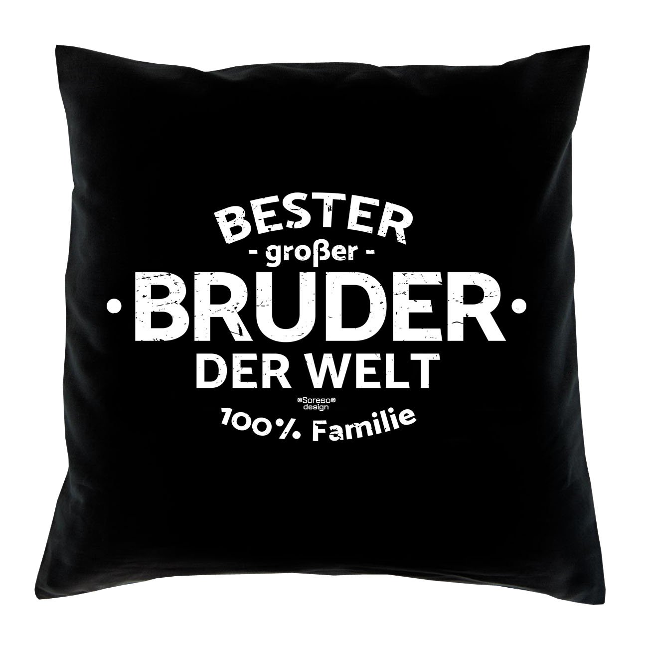 Geschenk-Set : Bester großer Bruder der Welt - Kissen inkl. Füllung ...
