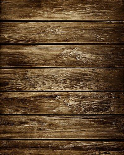 AOFOTO 4x5ft Grunge Wooden Plank Photography Backdrops Vintage Shabby Wood Board Backdground Old Hardwood Fence Kid Baby Toddler Newborn Girl Boy Portrait Nostalgic Photo Shoot Studio Props Video ()