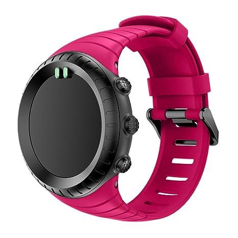 Correa de repuesto, ERVL924 Reemplazo suave Silicagel deportes correa de reloj, banda de reloj