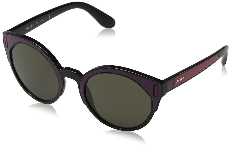 Prada 0PR03US SSA5S2 53 Gafas de sol, Negro (Black/Bordeaux ...