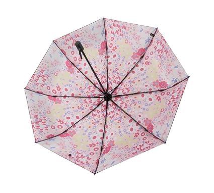 Sombrilla Negra Ultraligera Portátil Simple Sombrilla Plegable Anti Paraguas a Prueba de Viento del Paraguas del