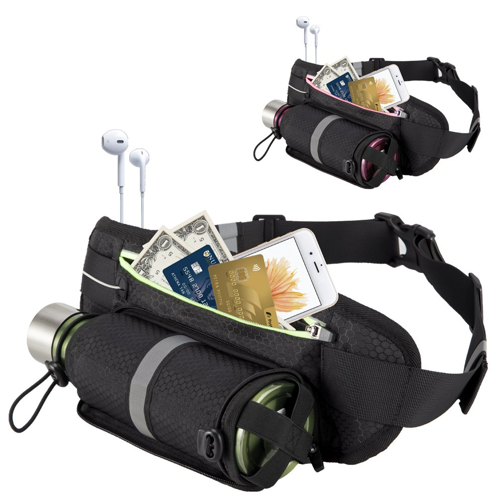 Amazon.com: OFTEN Sports Belt Runing Waist Pack with Water ...