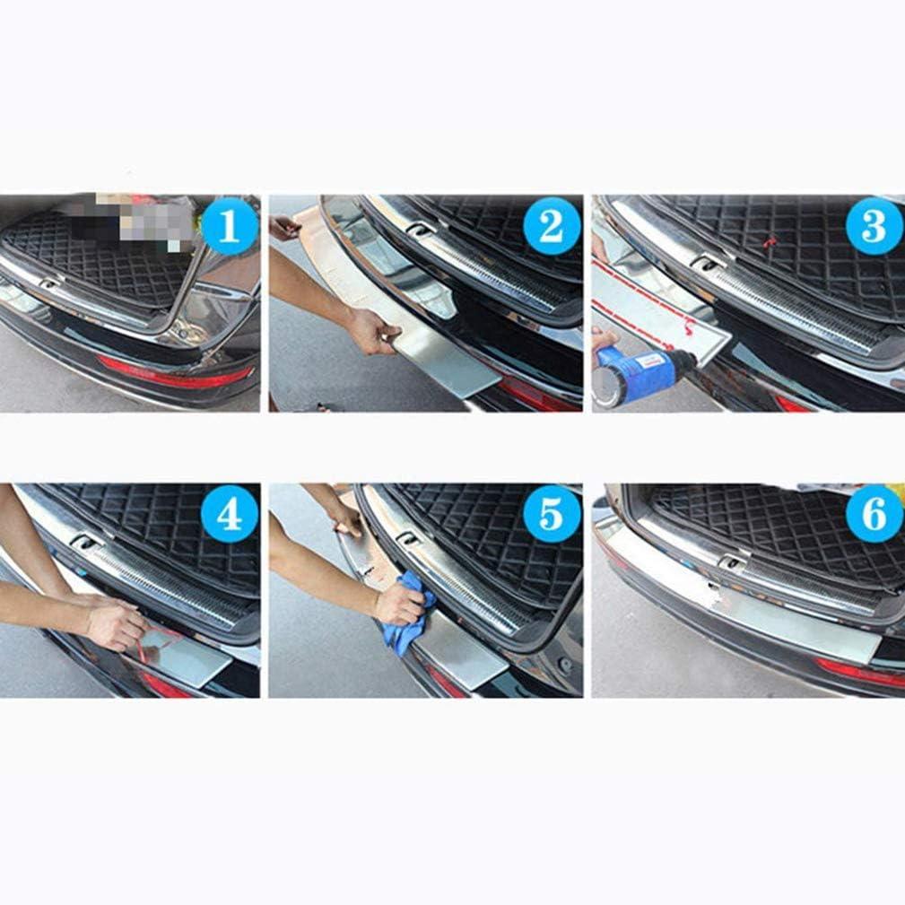 Auto Rear Bumper AntiGraffio Protector WUHULA Acciaio Inossidabile Adesivi Baule della Protezione Paraurti Posteriore per NIS-San Juke 2010 2011 2012 2013 2014 2015 2016 2017 2018 2019
