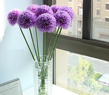 Longra Wohnaccessoires Deko Kunstblumen 5pcs Lavendel Ball Kunstliche Seide Blumen Blumenstrauss Home Hochzeit Party Dekoration Kunstliche Fake
